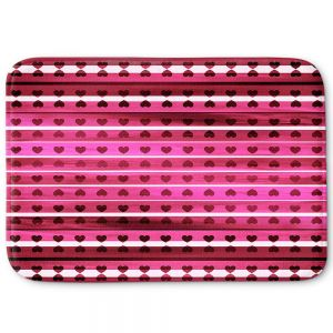 Decorative Bathroom Mats | Julia Di Sano - Heart Love Pink | Pattern stripes shapes