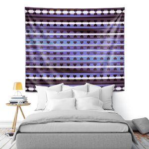 Artistic Wall Tapestry | Julia Di Sano - Heart Love Violet | Pattern stripes shapes