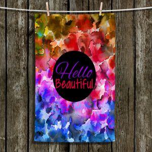 Unique Hanging Tea Towels | Julia Di Sano - Hello Beautiful | Abstract inspiring femenine colorful