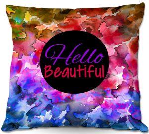 Throw Pillows Decorative Artistic | Julia Di Sano Hello Beautiful