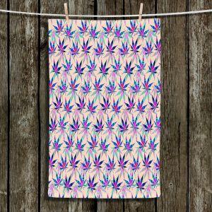 Unique Hanging Tea Towels | Julia Di Sano - Hippie Flowers 1 | Marijuana Pot Smoking Cannabis