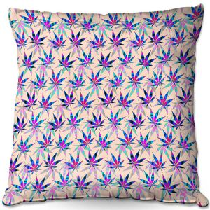 Throw Pillows Decorative Artistic | Julia Di Sano - Hippie Flowers 1 | Marijuana Pot Smoking Cannabis