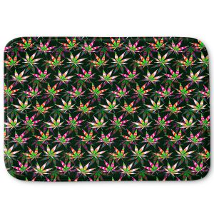 Decorative Bathroom Mats | Julia Di Sano - Hippie Flowers 10 | Marijuana Pot Smoking Cannabis