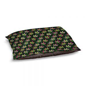 Decorative Dog Pet Beds | Julia Di Sano - Hippie Flowers 10 | Marijuana Pot Smoking Cannabis