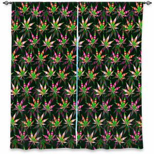 Decorative Window Treatments | Julia Di Sano - Hippie Flowers 10 | Marijuana Pot Smoking Cannabis