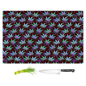 Artistic Kitchen Bar Cutting Boards | Julia Di Sano - Hippie Flowers 11 | Marijuana Pot Smoking Cannabis