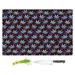Artistic Kitchen Bar Cutting Boards | Julia Di Sano - Hippie Flowers 11 | Marijuana Pot Smoking Cannabis