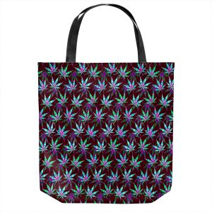 Unique Shoulder Bag Tote Bags | Julia Di Sano - Hippie Flowers 11 | Marijuana Pot Smoking Cannabis