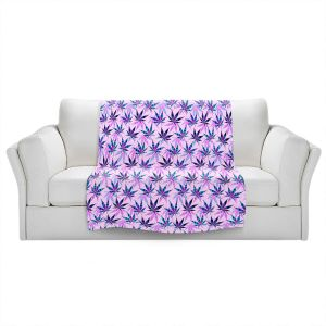 Artistic Sherpa Pile Blankets   Julia Di Sano - Hippie Flowers 5   Marijuana Pot Smoking Cannabis