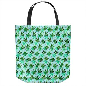 Unique Shoulder Bag Tote Bags | Julia Di Sano - Hippie Flowers 7 | Marijuana Pot Smoking Cannabis
