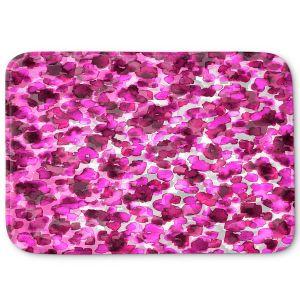 Decorative Bathroom Mats | Julia Di Sano - In The Wild Fuschia | abstract pattern petals floral