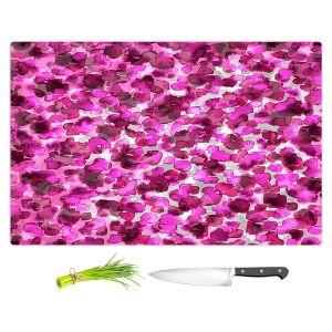 Artistic Kitchen Bar Cutting Boards | Julia Di Sano - In The Wild Fuschia | abstract pattern petals floral