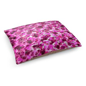Decorative Dog Pet Beds | Julia Di Sano - In The Wild Fuschia | abstract pattern petals floral