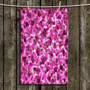 Unique Bathroom Towels | Julia Di Sano - In The Wild Fuschia | abstract pattern petals floral