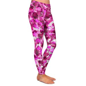 Casual Comfortable Leggings | Julia Di Sano - In The Wild Fuschia | abstract pattern petals floral