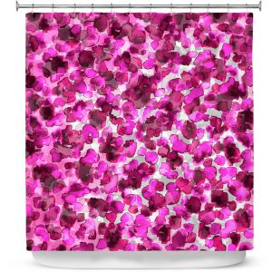 Premium Shower Curtains | Julia Di Sano - In The Wild Fuschia | abstract pattern petals floral