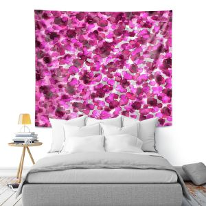 Artistic Wall Tapestry   Julia Di Sano - In The Wild Fuschia   abstract pattern petals floral