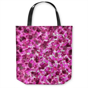 Unique Shoulder Bag Tote Bags | Julia Di Sano - In The Wild Fuschia | abstract pattern petals floral