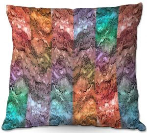 Decorative Outdoor Patio Pillow Cushion | Julia Di Sano - Infinite Surf 1 | abstract pattern