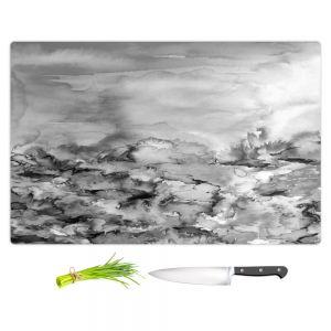 Artistic Kitchen Bar Cutting Boards | Julia Di Sano - Into Eternity Greyscale