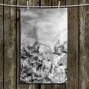Unique Hanging Tea Towels | Julia Di Sano - Into Eternity Greyscale | Abstract stylized