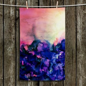 Unique Bathroom Towels | Julia Di Sano - Into the Eye Pink Indigo