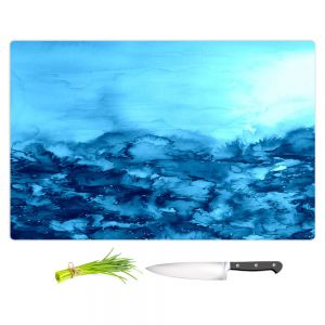 Artistic Kitchen Bar Cutting Boards | Julia Di Sano - Into the Eye Turquoise