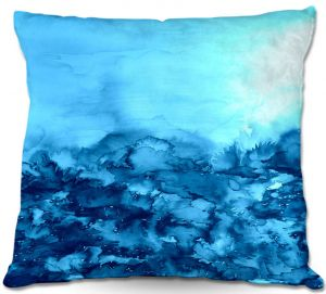 Decorative Outdoor Patio Pillow Cushion | Julia Di Sano - Into the Eye Turquoise