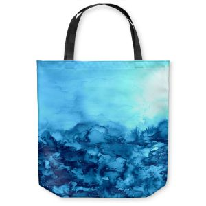 Unique Shoulder Bag Tote Bags | Julia DiSano Into the Eye Turquoise