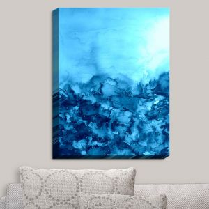Decorative Canvas Wall Art | Julia Di Sano - Into the Eye Turquoise