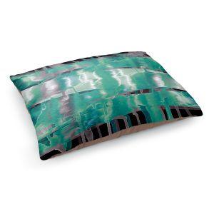 Decorative Dog Pet Beds | Julia Di Sano - Inversion Aqua | lines abstract pattern