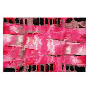 Decorative Floor Covering Mats | Julia Di Sano - Inversion Hot Pink | lines abstract pattern