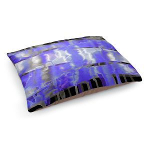 Decorative Dog Pet Beds | Julia Di Sano - Inversion Purple | lines abstract pattern