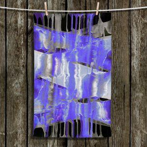 Unique Bathroom Towels | Julia Di Sano - Inversion Purple | lines abstract pattern