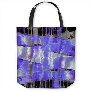 Unique Shoulder Bag Tote Bags | Julia Di Sano - Inversion Purple | lines abstract pattern