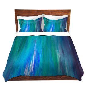 Artistic Duvet Covers and Shams Bedding | Julia Di Sano - Irradiated Blue