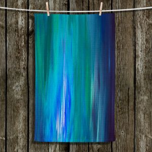 Unique Hanging Tea Towels | Julia Di Sano - Irradiated Blue | Abstract Colorful