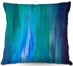 Unique Throw Pillows from DiaNoche Designs by Julia Di Sano - Irradiated Blue | 16X16