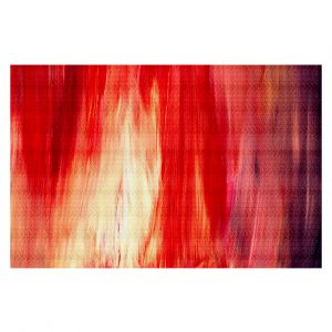 Decorative Area Rug 2 x 3 Ft from DiaNoche Designs byJulia Di Sano - Irradiated Red