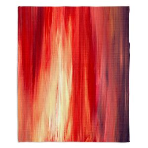 Decorative Fleece Throw Blankets | Julia Di Sano - Irradiated Red