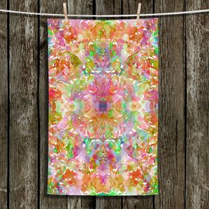 Unique Hanging Tea Towels   Julia Di Sano - Jewel in the Crown III   Abstract Colorful Boho