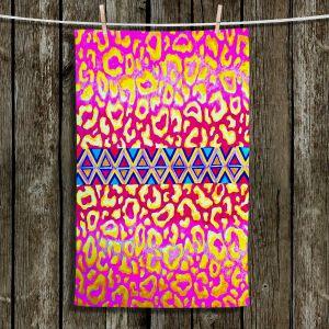 Unique Bathroom Towels | Julia Di Sano - Leopard Trail Pink