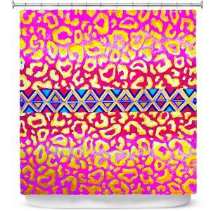 Premium Shower Curtains | Julia DiSano Leopard Trail Pink