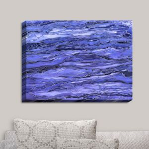 Decorative Canvas Wall Art | Julia Di Sano - Marble Idea Periwinkle Blue Grey | Abstract Painting