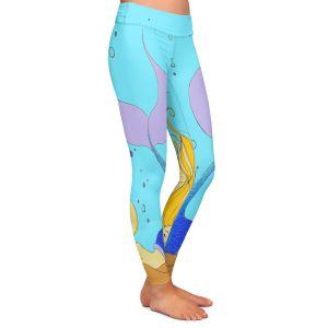 Casual Comfortable Leggings | Julia Di Sano - Mermaid Nap Aqua