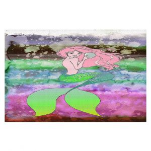 Decorative Floor Covering Mats | Julia Di Sano - Mermaid Pearl 2 | Blonde Mermaid Ocean Swimming
