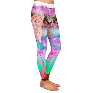 Athletic Yoga Leggings from DiaNoche Designs by Julia Di Sano Ombre Autumn Purple Pink