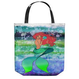 Unique Shoulder Bag Tote Bags | Julia Di Sano - Mermaid Pearl 4 | Blonde Mermaid Ocean Swimming