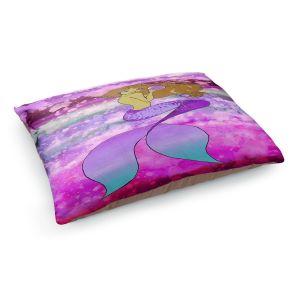 Decorative Dog Pet Beds | Julia Di Sano - Mermaid Pearl 5 | Blonde Mermaid Ocean Swimming