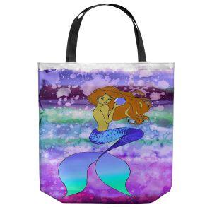 Unique Shoulder Bag Tote Bags | Julia Di Sano - Mermaid Pearl 6 | Blonde Mermaid Ocean Swimming